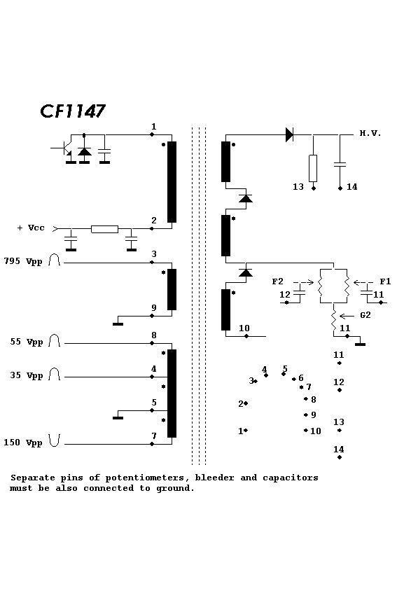CF1147_DWG Flyback Transformer Wiring Schematic on
